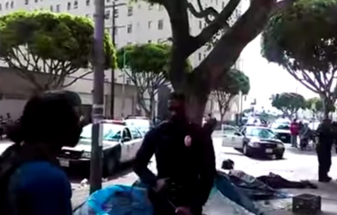 LAPD Shoot Homeless Man