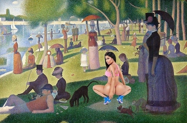 Nicki Minaj's Butt X Famous Artwork