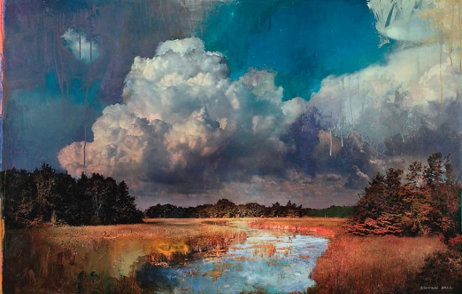 Stev'nn Hall's Mixed Media Impressionistic Landscapes