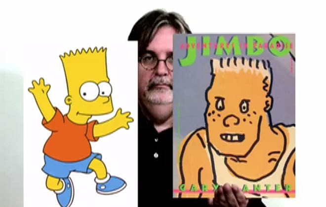 Invading pop culture and the origin of Bart Simpson's hairline