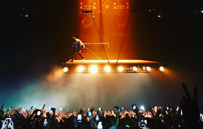 Kanye West Is Elevated With New Tour Stage