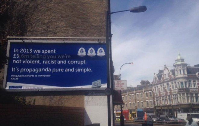 More Posters Trolling Police Appear In London