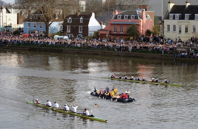 BREAKING NEWS: Migrant Boat Invades Oxford Vs. Cambridge Race!