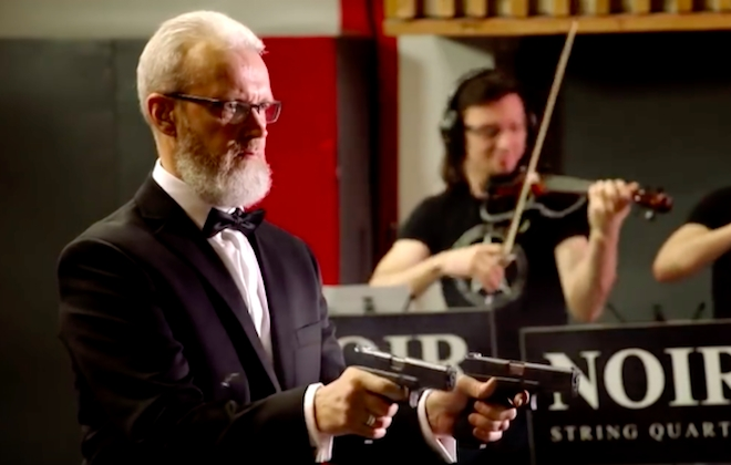 Performing Classical Music With Pistols