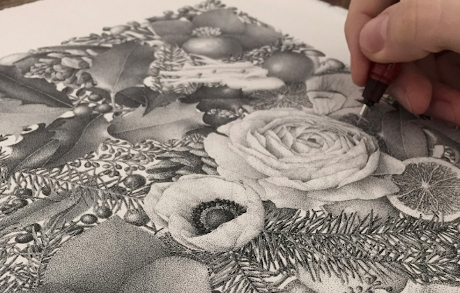 Xavier Casalta's Winter Was Hand-Inked With 8 Million Dots