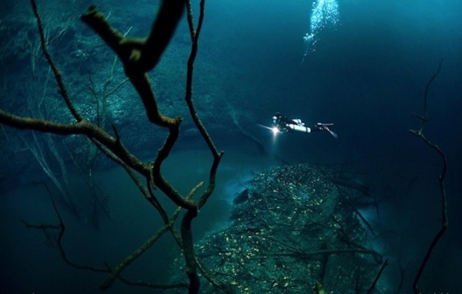 An Underwater River In Mexico