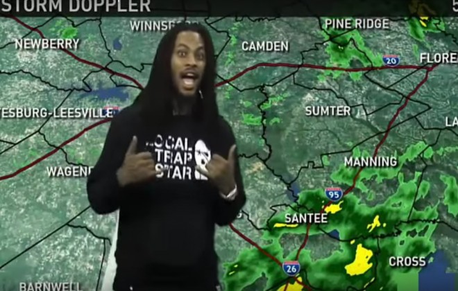 Waka Flocka Flame Gives Weather Report On Local News Station
