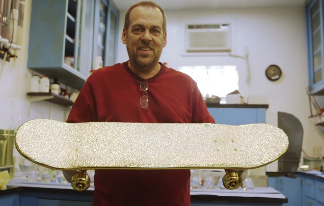 How a $15,000 Golden Skateboard is Made