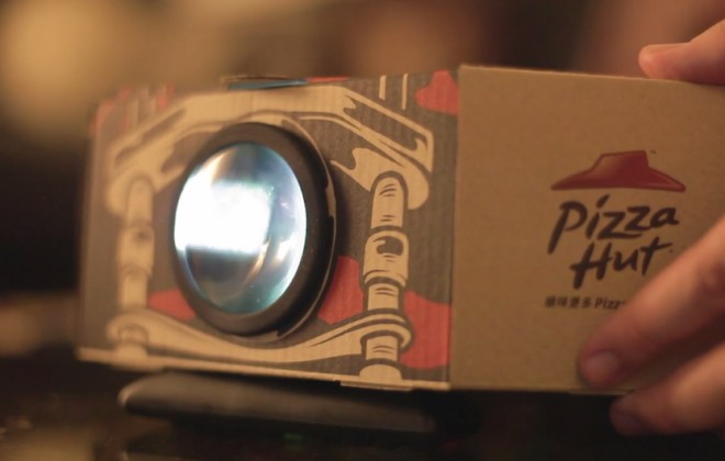 Pizza Hut's Pizza Box Projector