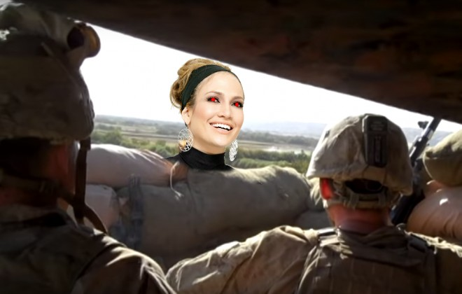Rocket Interrupts Soldier's Sweet J-Lo Rendition