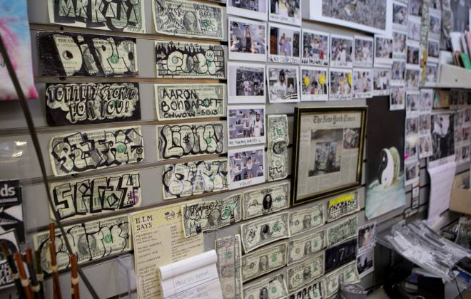 The Newsstand's Signed Dollar Bills