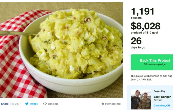 Guy Creates $10 Kickstarter For Potato Salad. He's Currently At $8028