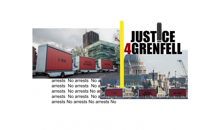 Powerful Three Billboards stunt reminds London that Grenfell victims still need justice