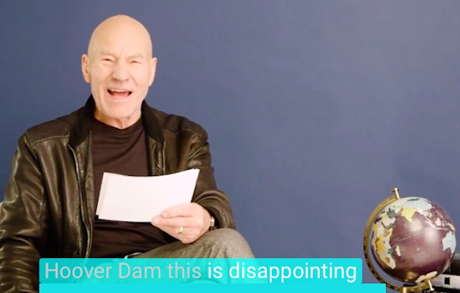 Patrick Stewart Reads Negative Reviews Of Iconic Monuments