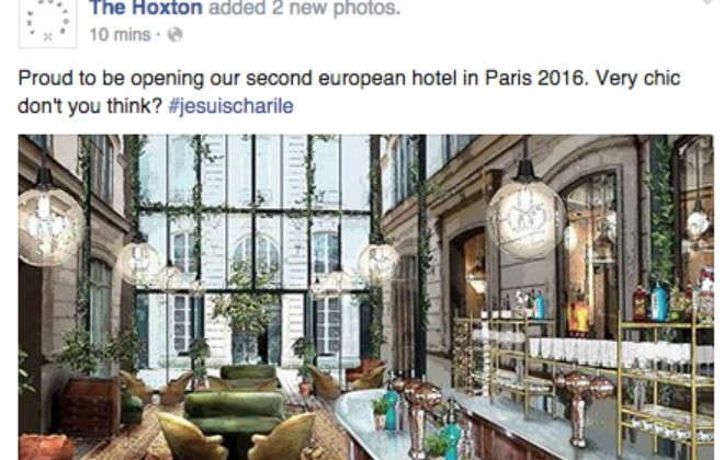 Trendy London Hotel Uses #JeSuisCharlie To Promote New Location