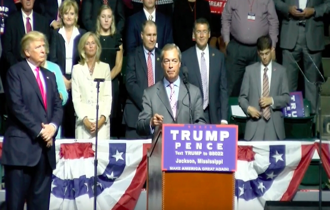 Brexit Fuckboy Nigel Farage Speaks At Donald Trump Campaign Rally