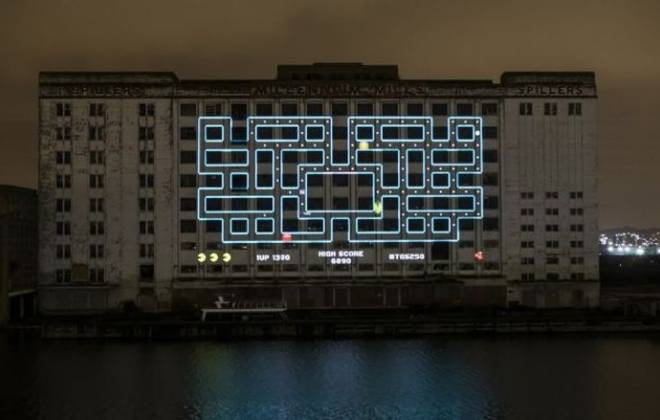 Giant Pac-Man In London