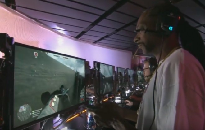 Snoop Dogg Smokes Weed During Broadcasted Gaming Session