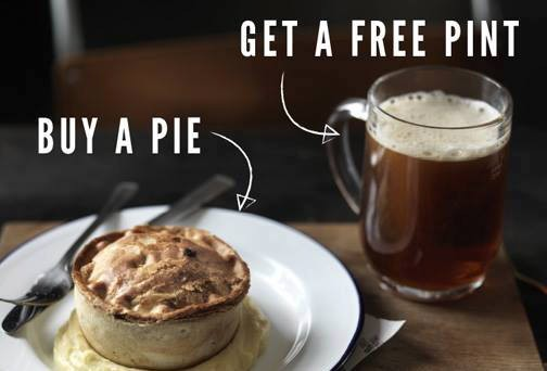 Students! Have A Pie & A FREE Pint From Pie Minister