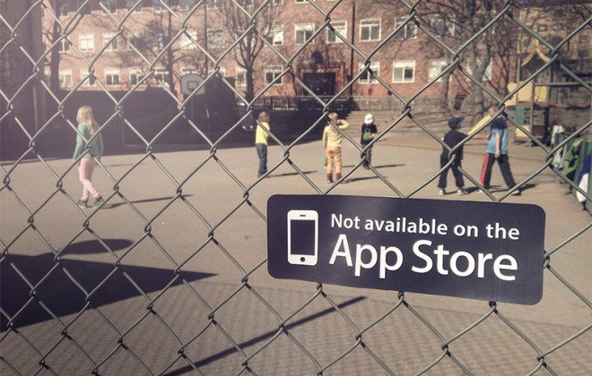 """Not Available In The App Store"" Stickers"