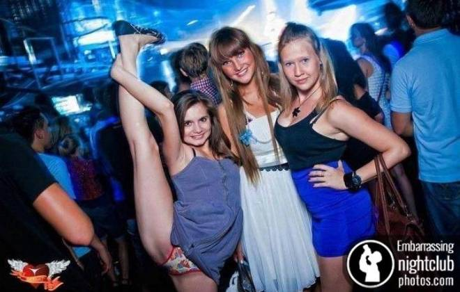 Clubbers Posing For Photos Whilst Being Filmed = LOL
