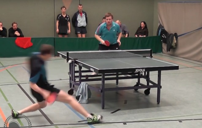 An Absolutely Ridiculous Table Tennis Shot