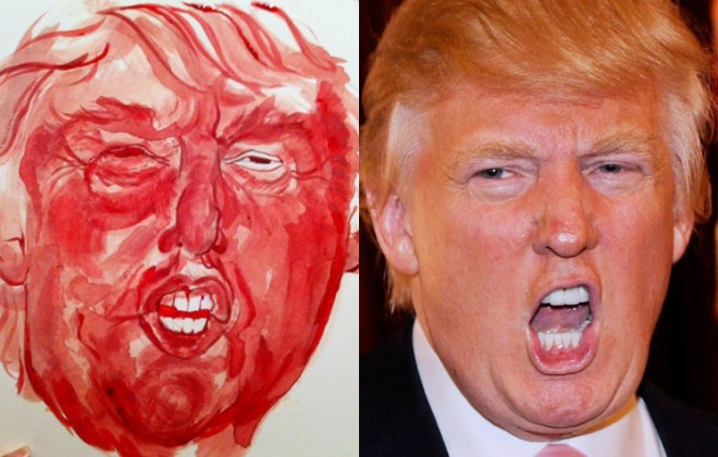 Artist Paints Portrait Of Donald Trump With Her Menstrual Blood