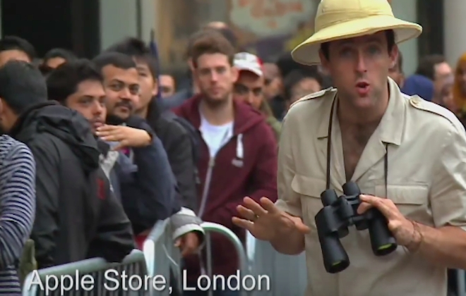 Anthropologist Observes Strange Creatures: Apple Fanboys Queueing For iPhones