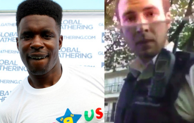 Tempa T x Car Smashing Met Police Officer