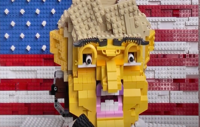 This LEGO Sculpture of Donald Trump Will Haunt Your Dreams