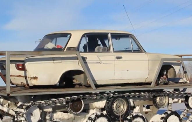 Turning A Russian Lada Into A Tank
