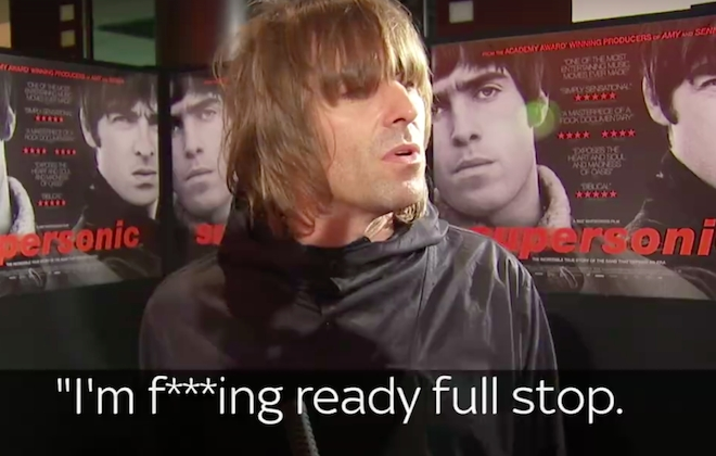 Oasis' Liam Gallagher Criticises Noel At Film Screening Interview
