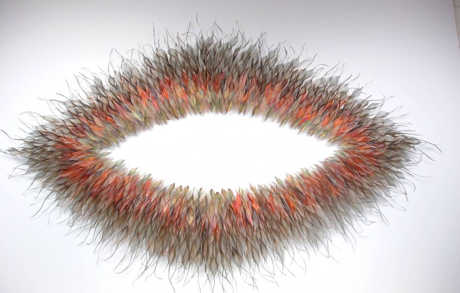 Woven Metal Leaf and Seed Installations by Michelle Mckinney