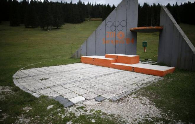 Abandoned 1984 Winter Olympics Facilities In Sarajevo