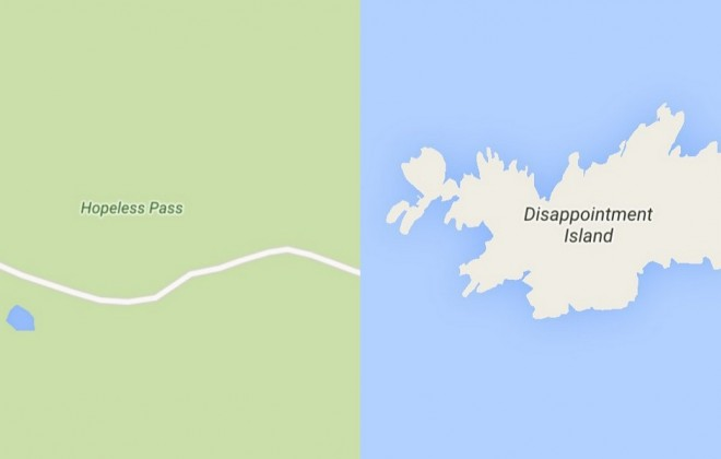 Sad Topographies For Miserable Explorers