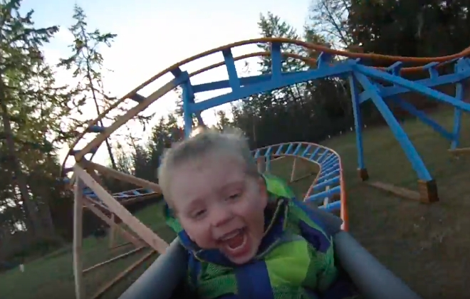 Best Dad Ever Builds Roller Coaster For Son