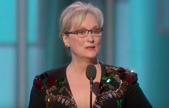Meryl Streep Hits Out At Donald Trump During Awards Speech