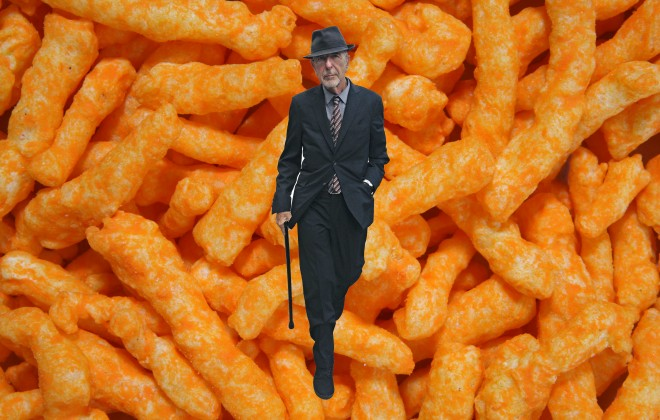 Leonard Cohen Eats Cheetos When He Gets The Munchies