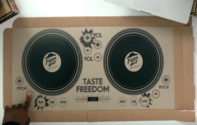 A Playable DJ Pizza Box