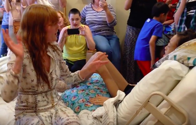 Florence + The Machine Performed In A Hospice