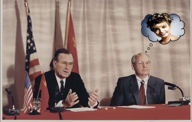 "Gorbachev asks Bush ""Who Killed Laura Palmer""?"