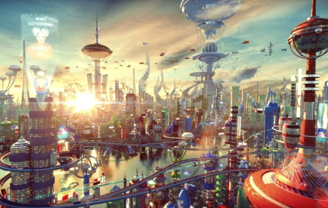 Amazing 3D Rendering Of Futurama Opening
