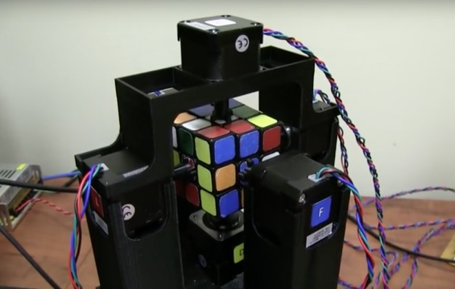 Fear The Rubik's Cube Solving Robot