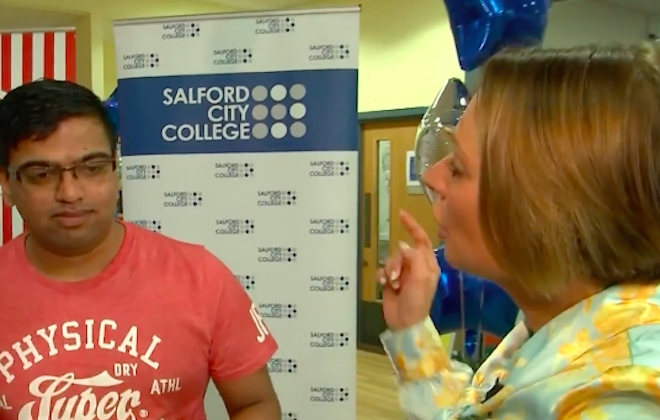 Student Visibly Disappointed By A-Level Results During Live TV Broadcast