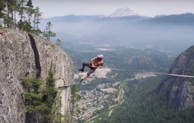 NOPE #64,506 - Slacklining 300 Metres Up