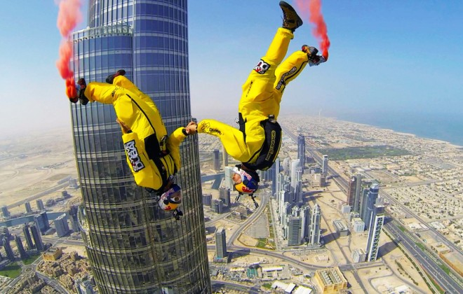French Duo Sets Highest Base Jump Record from Dubai's Burj Khalifa