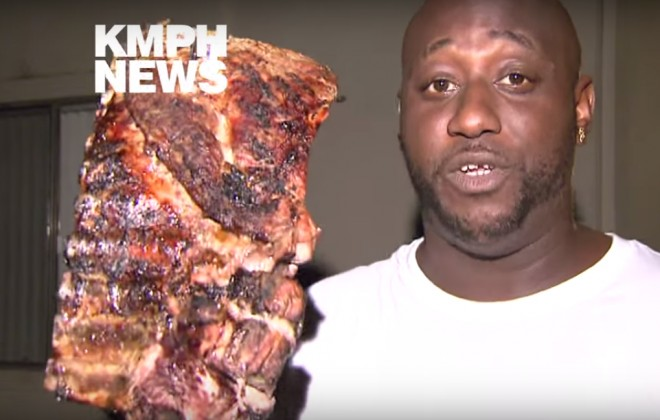 Hero Man Saves BBQ Ribs From Apartment Fire