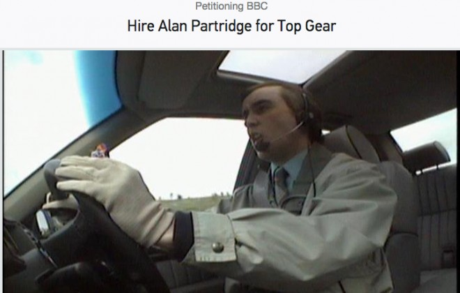 I Can Really Get Behind This Alan Partridge On Top Gear Petition