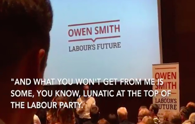 Desperate Owen Smith Calls Jeremy Corbyn A 'Lunatic'