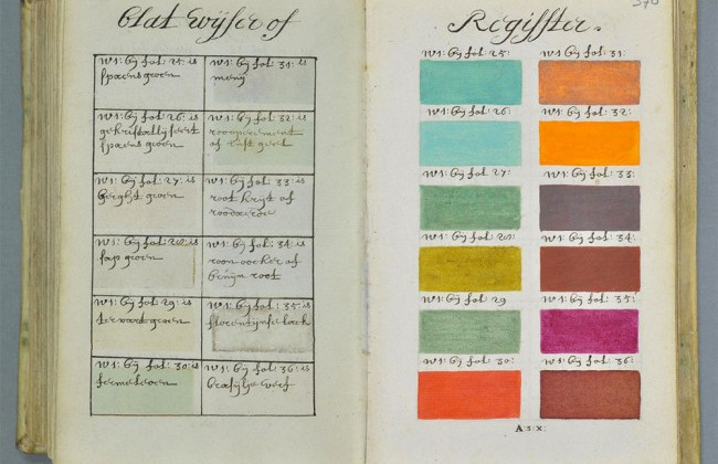 A Painting Colour Guide From 1692